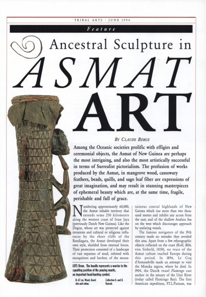 Ancestral Sculpture in Asmat Art