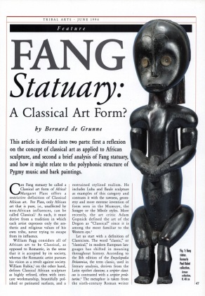 Fang Statuary: A Classical Art Form?
