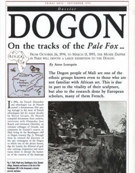 Dogon. Sur les traces du Renards Pâle…