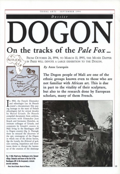 Dogon, On the tracks of the Pale Fox …