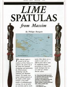 Spatules à chaux de la région Massim