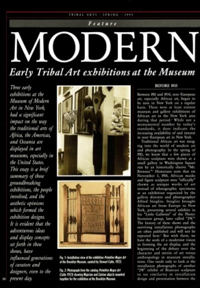 Modern Times. Early Tribal Art exhibitions at the Museum of Modern Art in New York 1935-1946