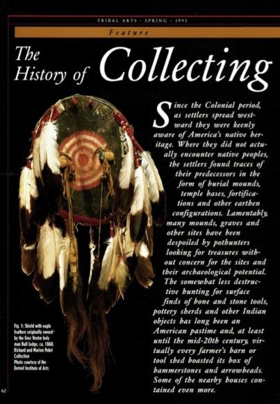 Collectionner l'Art des Indiens d'Amérique. 2e partie, XIXe et XXe siécle