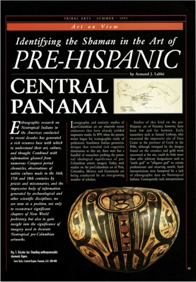 Identifying the Shaman in the Art of Pre-Hispanic Central Panama