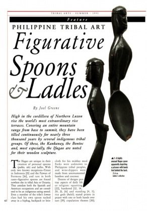 Philippine Tribal Art. Figurative Spoons and Ladles