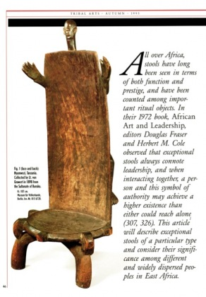 East-African High-Backed Stools: a Transcultural Tradition
