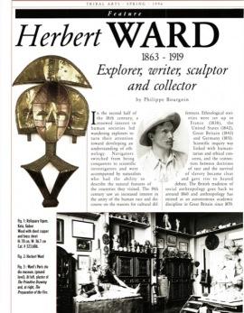 Herbert Ward 1863 - 1919 Explorateur, écrivain, sculpteur et collectionneur