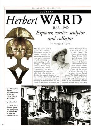Herbert Ward 1863 - 1919 Explorer, writer, sculptor and collector
