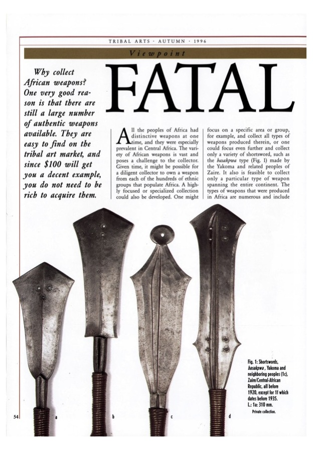 Fatal Beauty Tips For Collectors Of African Weapons
