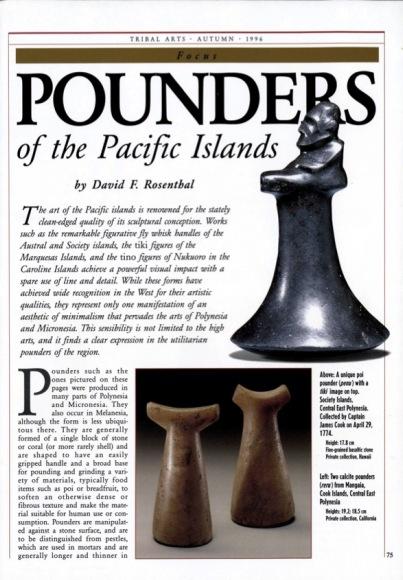 Les Pilons des îles du Pacifique