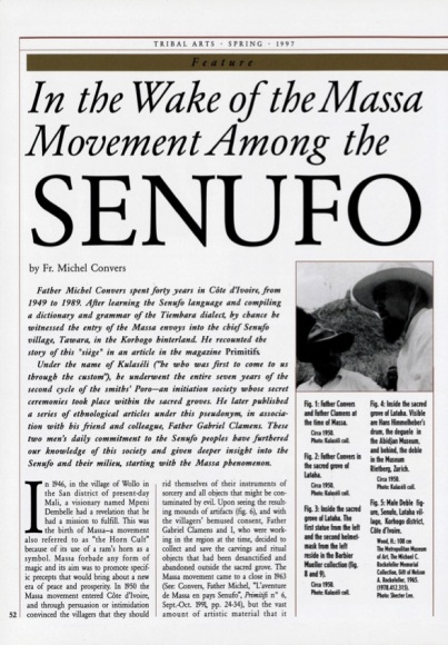 In the Wake of the Massa Movement Among the Senufo