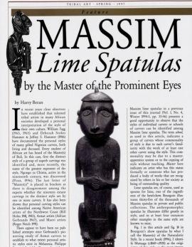 """Les spatules à chaux massim du Maître(s)* des """"yeux proéminents"""""""