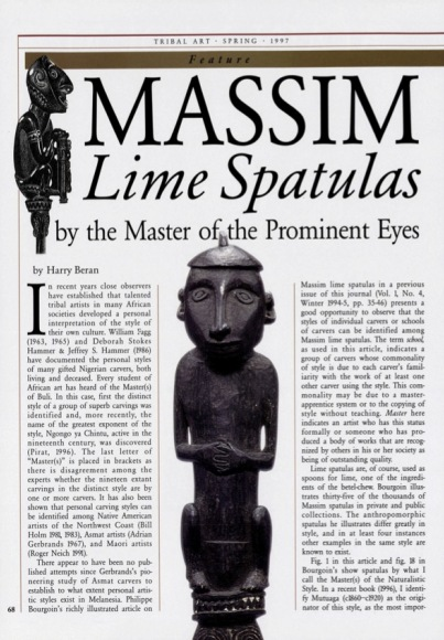 Massim Lime Spatulas by the Master of the Prominent Eyes
