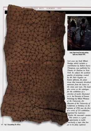 Mbuti Design. Pygmy Art of Ituri, Zaire