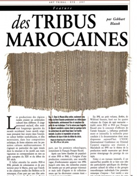 Textiles et Tapis des tribus marocaines