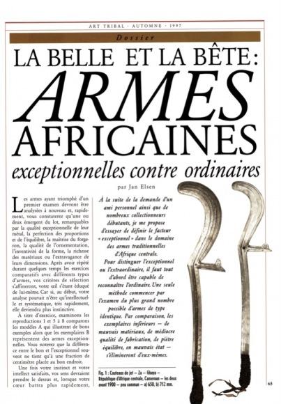 La Belle et la Bête : Armes africaines exceptionnelles contre ordinaires