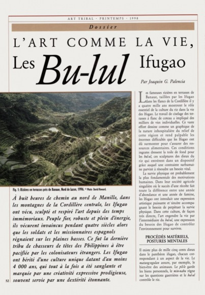 L'art comme la vie, Les Bu-lul Ifugao