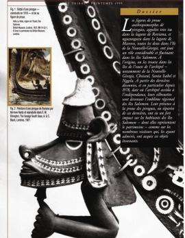 Toto Isu (NguzuNguzu): figures de proue de pirogue de guerre des îles Salomon de l'Ouest