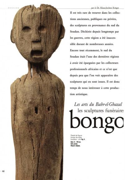 Les arts du Bahr-el-Ghazal les sculptures funéraires bongo et belanda