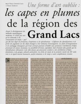 Une forme d'art oubliée : les capes en plumes de la région des Grand Lacs