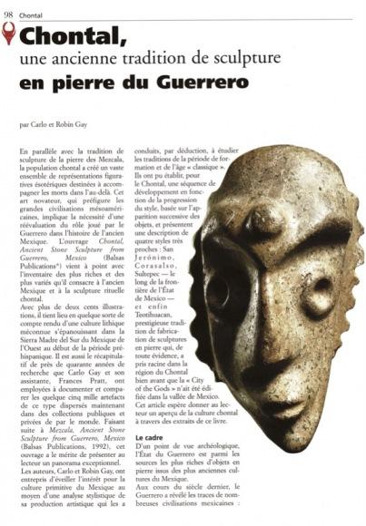 Chontal, une ancienne tradition de sculpture en pierre de Guerrero