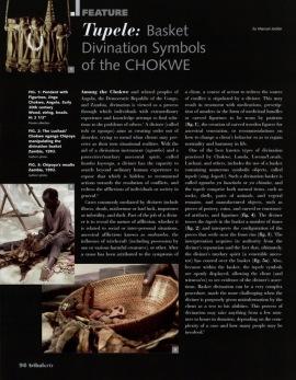 Tupele, les symboles du panier divinatoire chokwe
