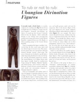 """Oracles à friction, les Figurines """"divinatoires"""" oubangui"""
