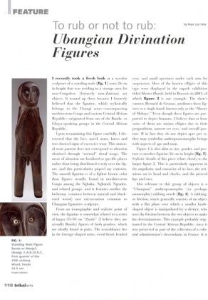 To rub or not to rub: Ubangian Divination Figures
