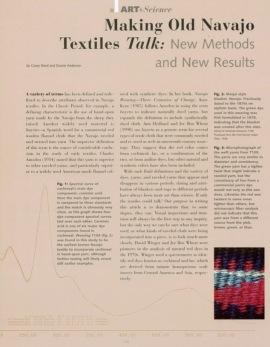 Faire parler les anciens textiles navajo