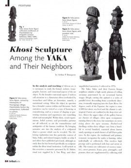 Khosi Sculpture Among the Yaka and Their Neighbors