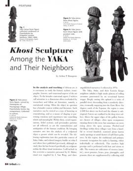 Sculpture khosi chez les Yaka et leurs voisins