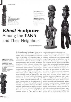 Khosi Sculpture Among the Yaka and Their Neighbors