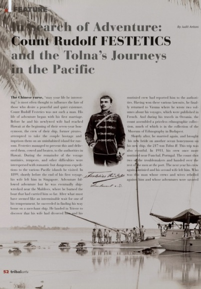 In Search of Adventure: Count Rudolf Festetics and the Tolna's Journeys in the Pacific