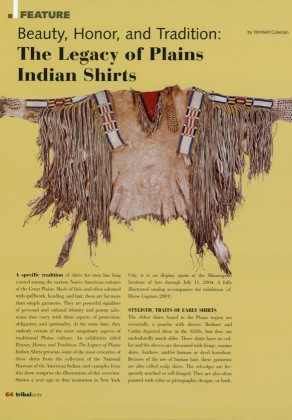 Beauty, Honor and Tradition: The Legacy of Plain Indians Shirts