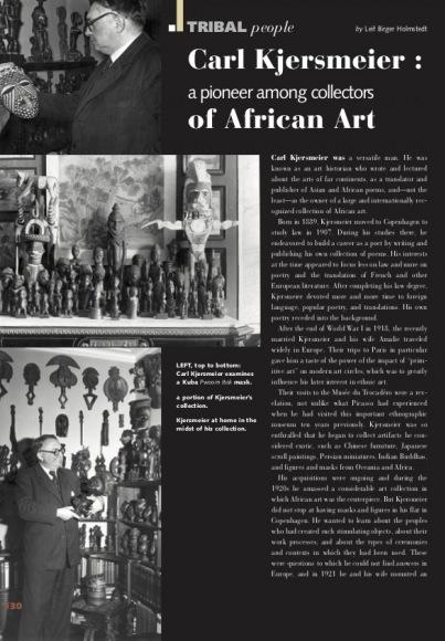 Carl Kjersmeier : A Pioneer Among Collectors of African Art