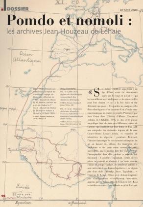Pomdo and Nomoli : The Jean Houseau de Lehaie archives