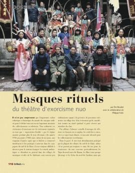 Masques rituels du théâtre d'exorcisme nuo
