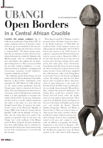 Ubangi : un creuset aux frontières ouvertes en Afrique centrale