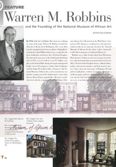 Warren M. Robbins et la genèse du National Museum of African Art
