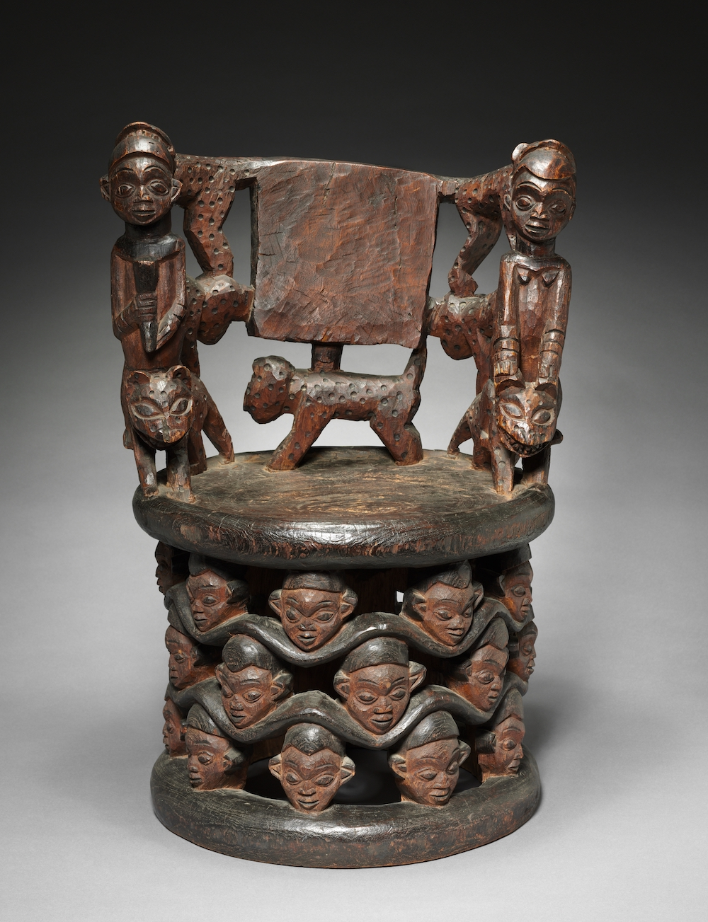 Prestige chair Grassfields Cameroon Cleveland museum of Art